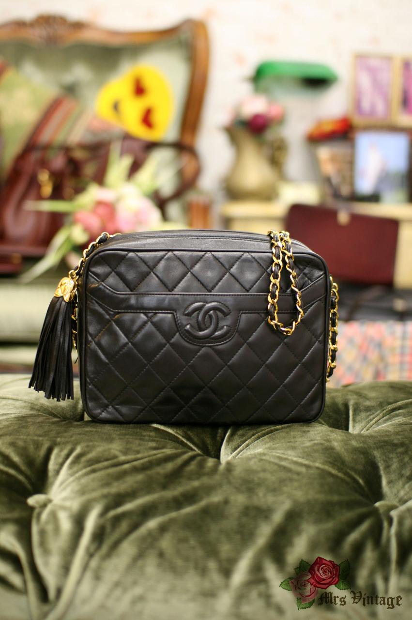 9c67d708112f6c Vintage Chanel Lambskin Tassel Purse 23CM Wide - Mrs Vintage ...