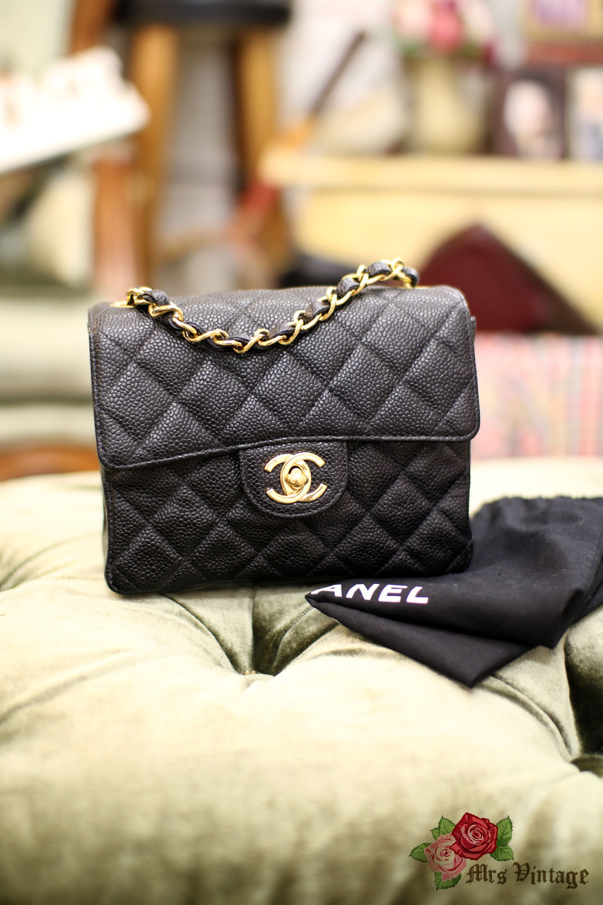 ee3bf15aa7ee7 Chanel Small Black Caviar Leather Quilted Flap Bag - Best Quilt ...