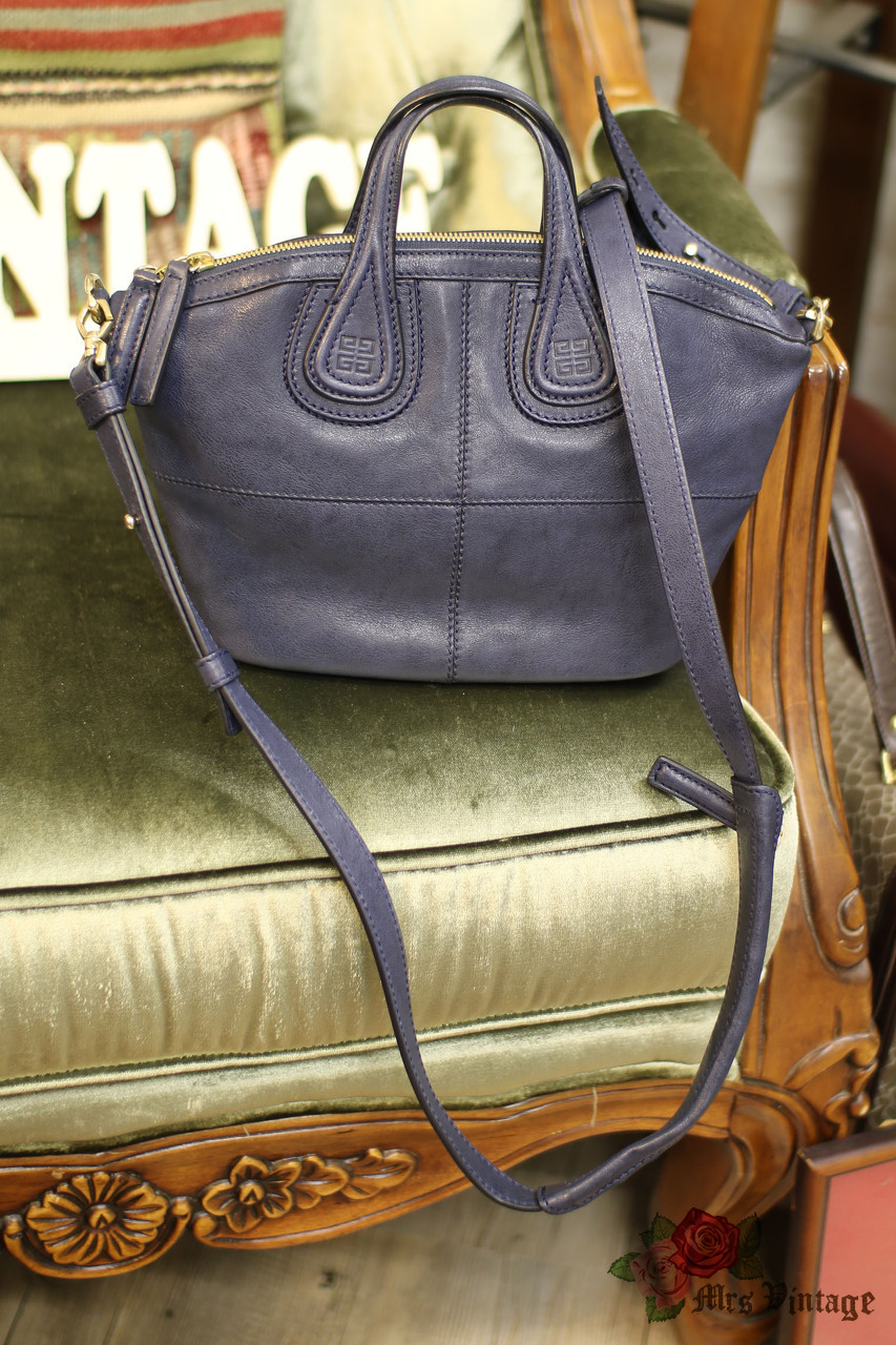 Pre Owned Givenchy Navy Mini Nightingale Bag With Gold Hardware Like ... a38950d513382