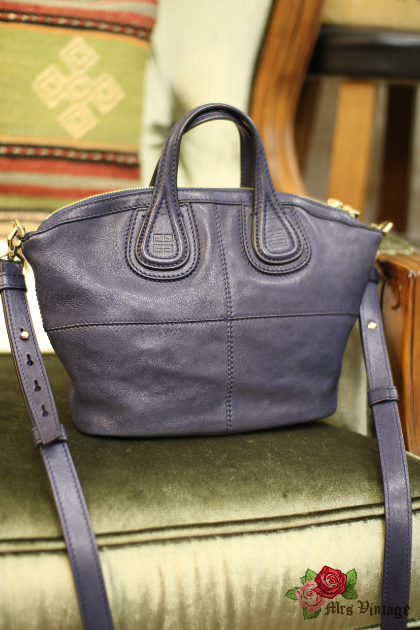 2c4d460d807d Pre Owned Givenchy Navy Mini Nightingale Bag With Gold Hardware Like ...