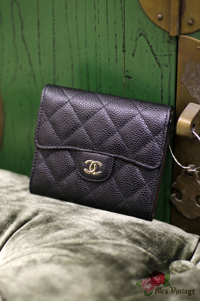 acdbdd0357b0 Brand NEW Chanel Black Caviar Leather Small Classic Wallet 2018 from Paris Silver  Hardware